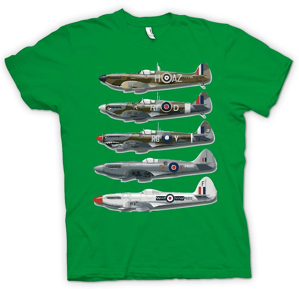 Herr T-shirt - 5 Spitfires Collage - citat