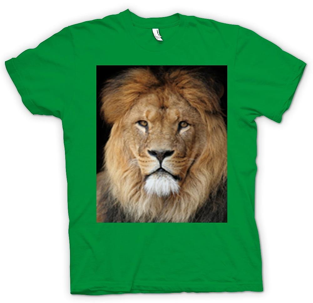 Heren T-shirt-Lion kleur portret