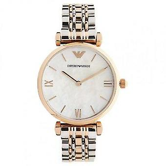 Armani watches ar1683 ladies rose gold & stainless steel watch