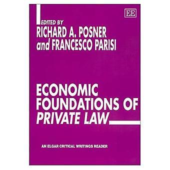 Fundamentos económicos del derecho privado (lector de escrituras críticas de Elgar)