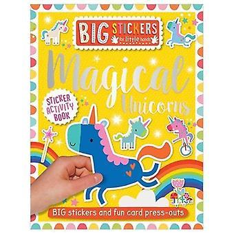 Stora dekaler för små händer: magiska enhörningar (stora klistermärken för små händer)