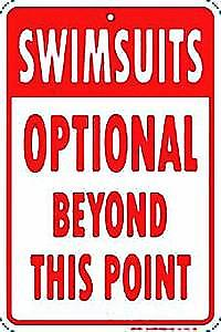 Swimsuits Optional embossed metal sign