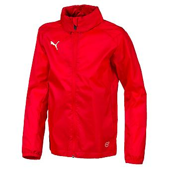 PUMA League training rain core kids rain jacket Red