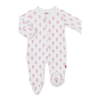 Magnificent Baby Girl Magnetic Me™ Organic Cotton Pink Open Sky Footie