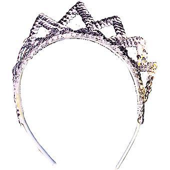 Tiara Pailletten Silber für alle