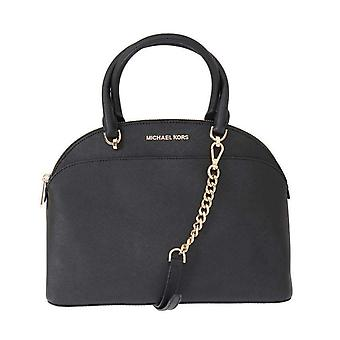 Michael Kors Black Emmy Leather Satchel Bag -- MK50731760