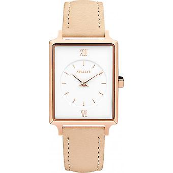 Watch CANDICE Amalys - leather Beige woman