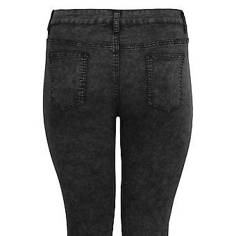 30-inch donker grijs Acid Wash Super Stretch Skinny Jeans