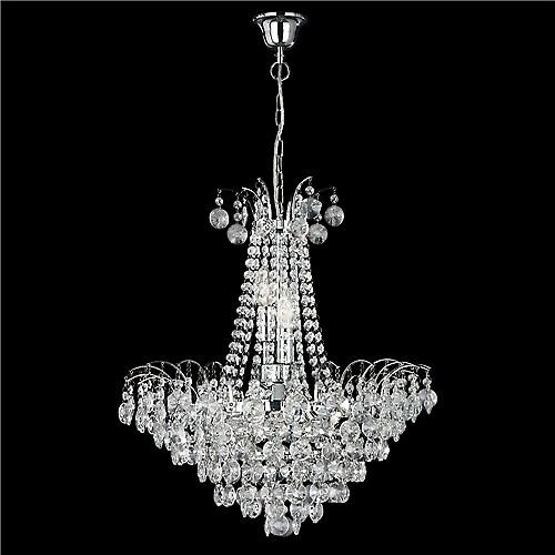 Searchlight 9071-52CC Limoges 6 Light Chrome Crystal Pendant Chandelier