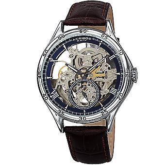 Akirbos XXIV AK1066SSBR Men's Automatic Leather Strap Watch