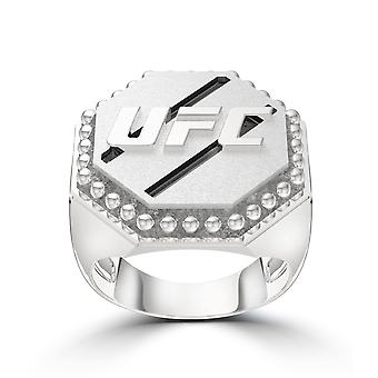 Ufc - Ufc Octagon Studded Ring In Sterling Silver