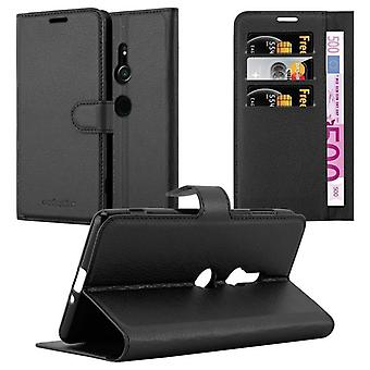 Cadorabo Case for Sony Xperia XZ2 Case Cover - Phone Case with Magnetic Closure, Stand Function and Card Case - Case Case Case Case Case Book Folding Style