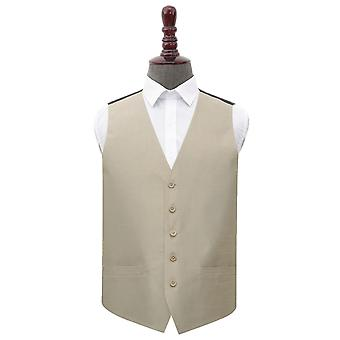 Taupe Shantung Wedding Waistcoat