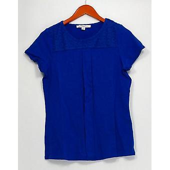 Isaac Mizrahi en direct! Top Short Sleeve Knit Ink Blue A275428