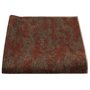 Luxe Perzische Dark Amber patroon zak plein, zakdoek