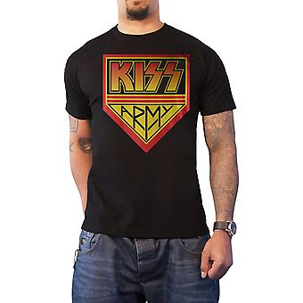 Kiss T Shirt Kiss Army band logo new Official Mens Black