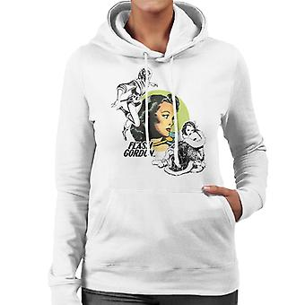 Flash Gordon Dale Montage Frauen's Kapuzen Sweatshirt