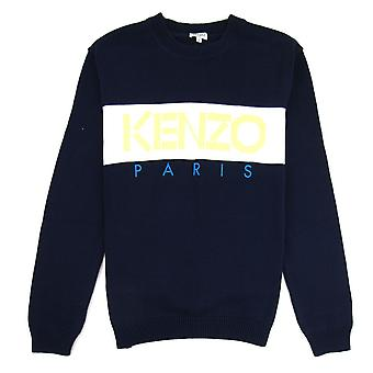 Sweatshirt Kenzo logo crew Knit Midnight Blue