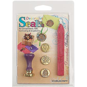 Decorative Sealing Set with Pink Wax Butterfly, Cake & Heart Coins 7273Occ