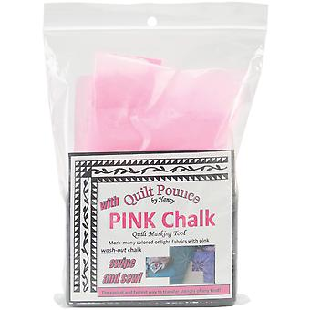 Quilt Pounce Pad With Chalk Powder 4 Ounces Pink 30329