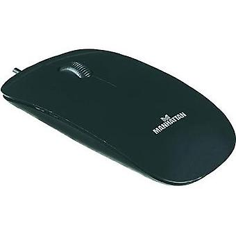 USB mouse Optical Manhattan Silhouette Optical Mouse Black