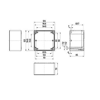 Build-in casing 124 x 122 x 85 Polycarbonate (PC) Light grey (RAL 7035) Spelsberg TG PC 1212-9-to 1 pc(s)