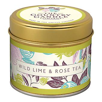 Fragrant Orchard Candle in a Tin - Wild Lime & Rose Tea
