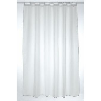 White Plain Polyester Shower Curtain 300 x 200cm
