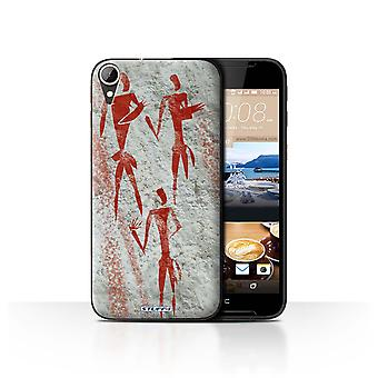 STUFF4 Case/Cover for HTC Desire 830/Gatherer/Red/Cave Painting