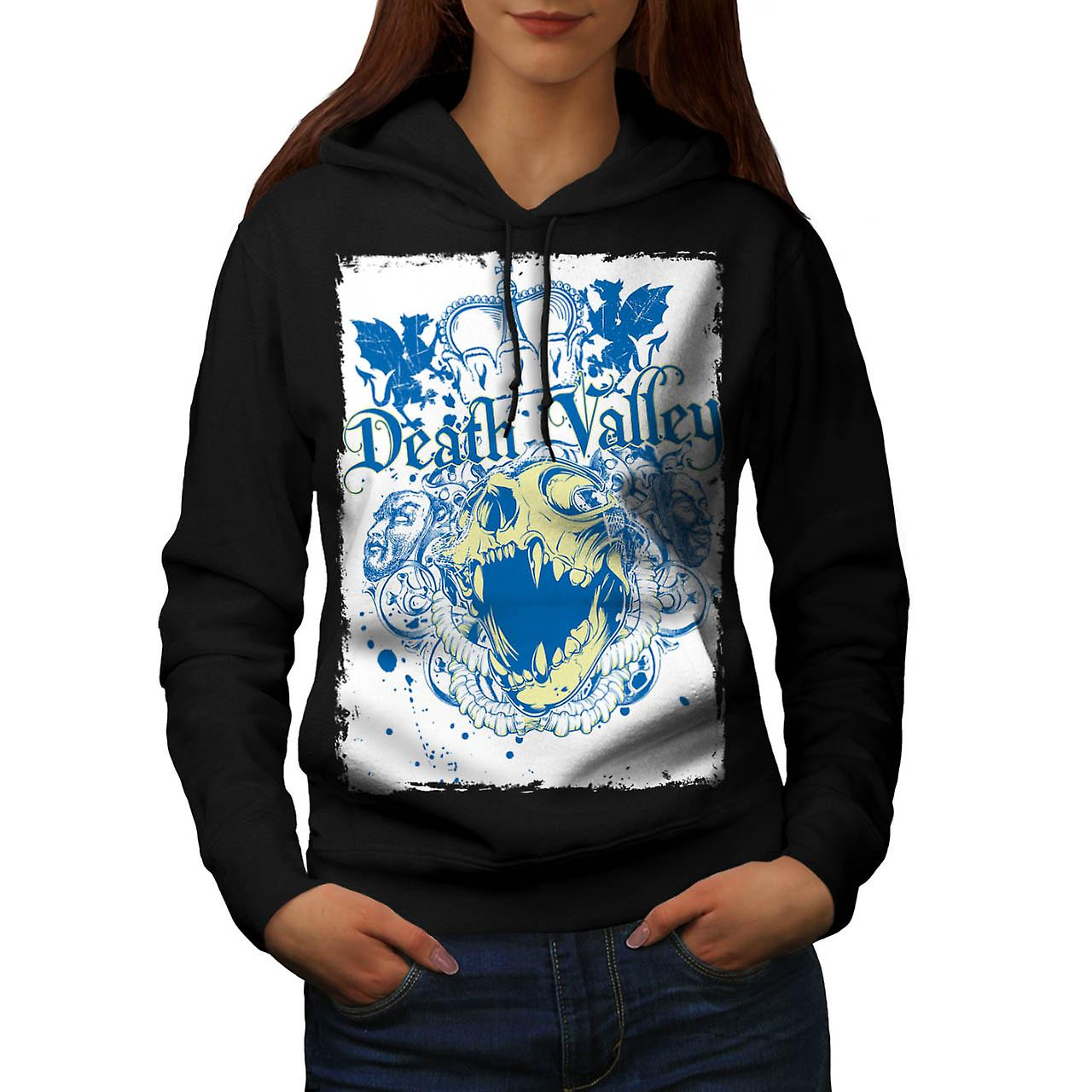 Death Valley monstre Royal Crown femme Black Hoodie | Wellcoda