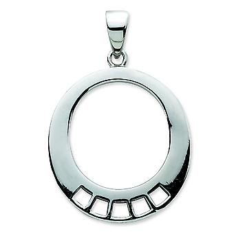 Ciondolo in argento Sterling fascino a forma ovale Carrier - misure 33x22mm