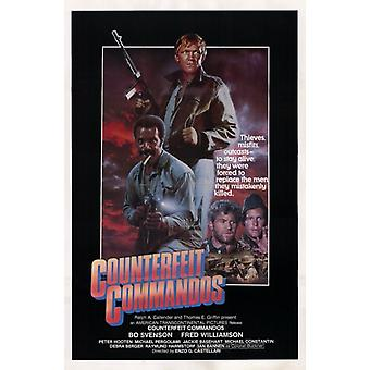 Gefälschte Commandos Movie Poster (11 x 17)