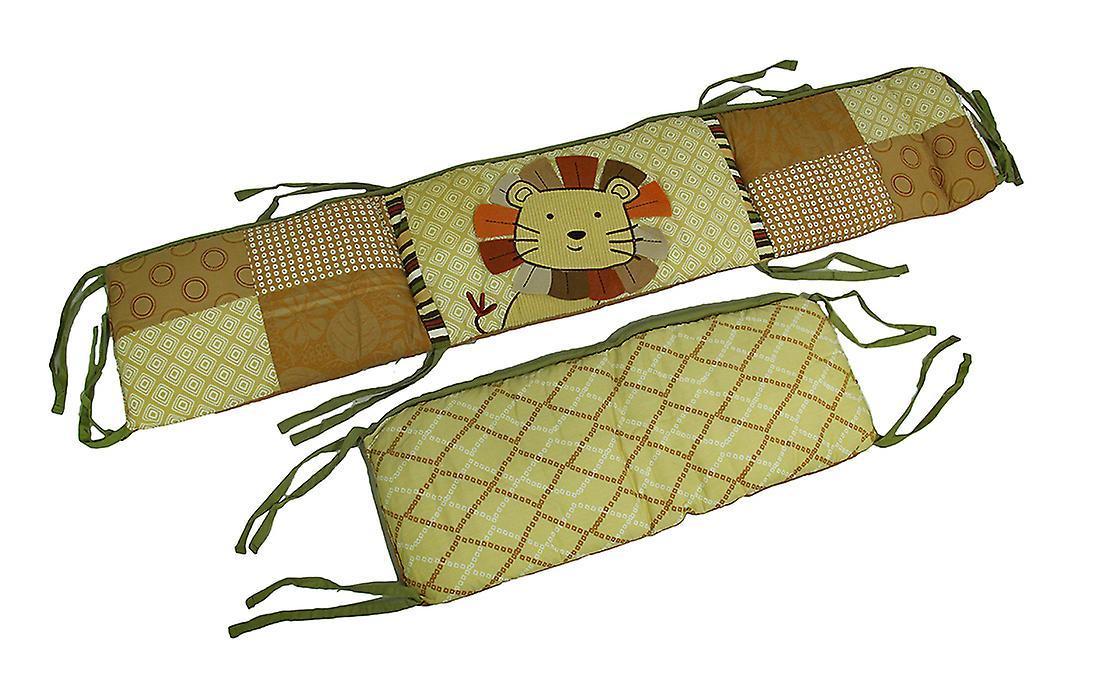 Theme Print Reversible Jungle Pad Bumper 4 Piece Geometric Crib Nali Set OPkXwZn0N8