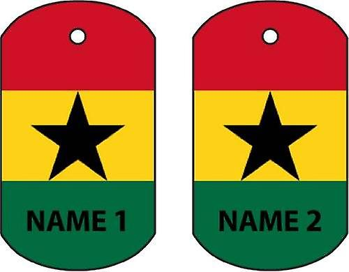 Personalised Ghana Dog Tag Car Air Freshener