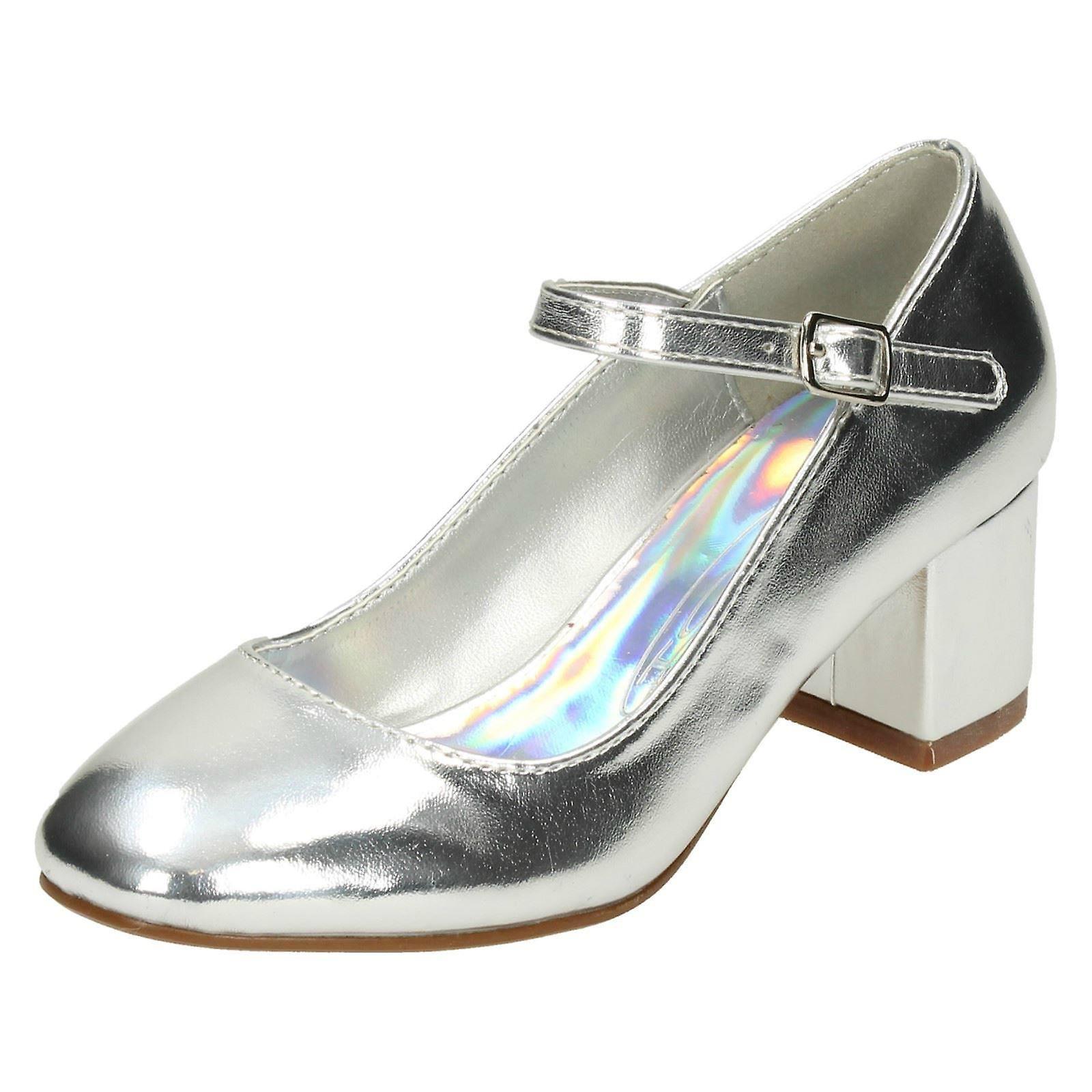 Girls Spot On Blocked Heel Dolly scarpe H3056 | Di Modo Attraente  | Uomo/Donna Scarpa