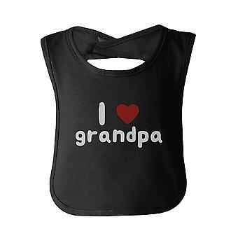 I Love Grandpa Cute baby Bibs Funny Infant Snap On Bib Great Baby Shower Gift