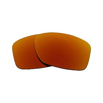 New SEEK Replacement Lenses for Oakley JUPITER SQUARED Grey Red Mirror