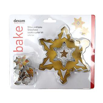 Dexam Make and Bake Snowflake Cookie Cutter Set