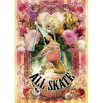 Alle Skate plakat Print af Aimee Stewart