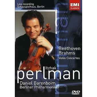 Itzhak Perlman - Brahms/Beethoven: Violin Cto. Importazione [DVD] Stati Uniti d'America