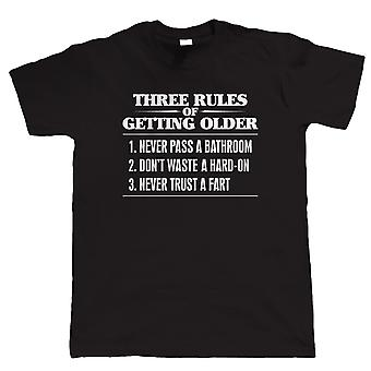 Three Rules of Getting Older Mens Funny T Shirt