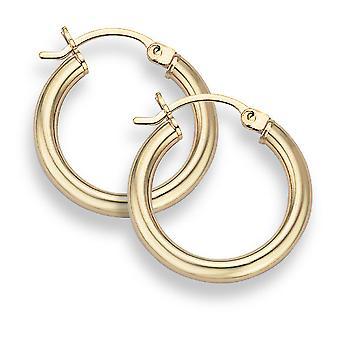 14K Gold Hoop Earrings - 3/4