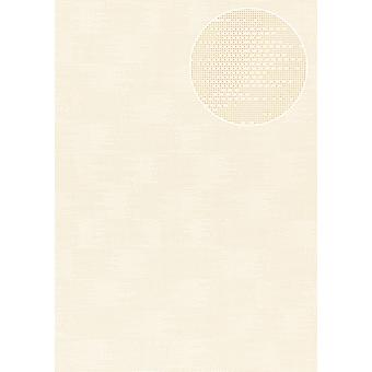 Uni wallpaper Atlas COL-499-5 non-woven wallpaper structured with structure matt cream creamy white 5.33 m2