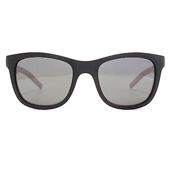 Polaroid Sporty Wrap Sunglasses In Black Red Polarised