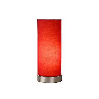 Lucide TUBI Red Cylinder Table Lamp