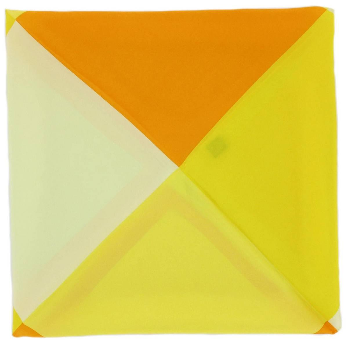 Michelsons of London Four Way Silk Handkerchief - Yellow
