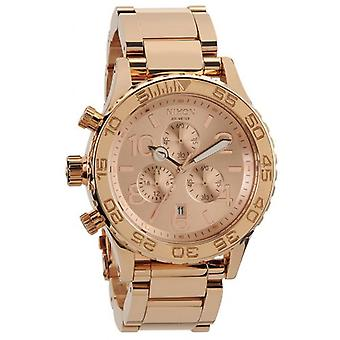 Nixon The 42-20 Chrono Watch - All Rose Gold