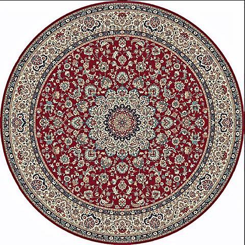 Kasbah Red 12217-474 Red ground with ivory border and touches of navy, blue and beige Rectangle Rugs Traditional Rugs