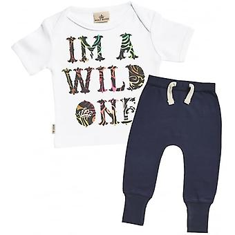 Spoilt Rotten I'm A Wild One Baby T-Shirt & Joggers Outfit Set