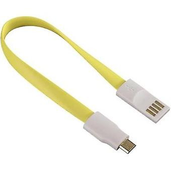 USB 2.0 [1x USB 2.0 connector A - 1x USB 2.0 connector Micro B] 0.2 m Yellow Cable end magnets Hama